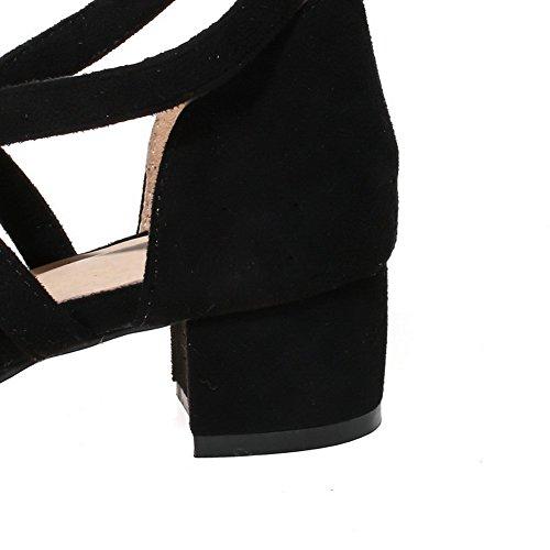 ASL05582 BalaMasa Ouvert Femme Bout Noir 6w8OvFn