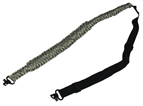 Ultimate Arms Gear Two QD 1'' Slot Wood Screws for Buttstocks Stud Swivel + 550 lb Paracord Survial Sling, ACU Army Digital Camo 56' ft Cord with Swivel Ends for Remington 870/1187/11-87 12/20 Gauge by Ultimate Arms Gear (Image #1)