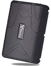 Winnes GPS Tracker, Real-time tracking Anti-diefstal Waterdichte GPS-locator Oplaadbaar Sterke Magneet 120 Dagen Standby GPS Tracker met app/web TK915