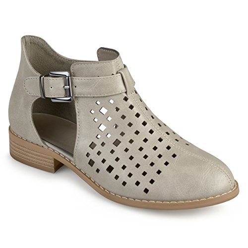 Journee Collection Similicuir Pour Femme Coupe Au Laser Gris