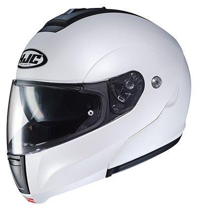 HJC Helmets Unisex-Adult flip Style CL-MAX3 Semi Flat (Pearl White, XX-Large)