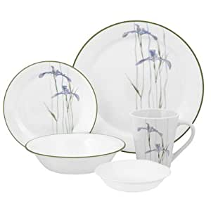 Corelle Impressions Shadow Iris 30-Piece Dinnerware Set, Service for 6