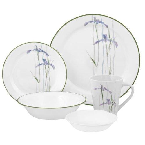 Corelle Impressions Shadow Iris 30-Piece Dinnerware Set, Service for 6