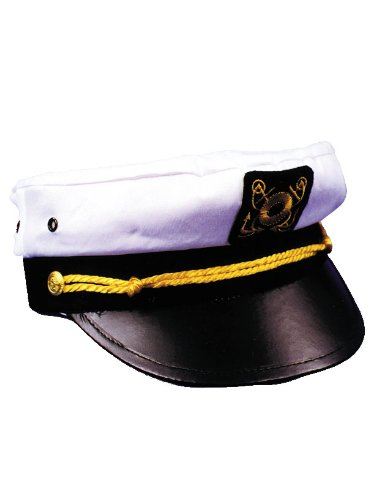 Gilligan's Island Captain Costume (Adult Admiral Hat Sea Captain Naval Uniform Gilligans Island Costume Hat Sizes: One Size)
