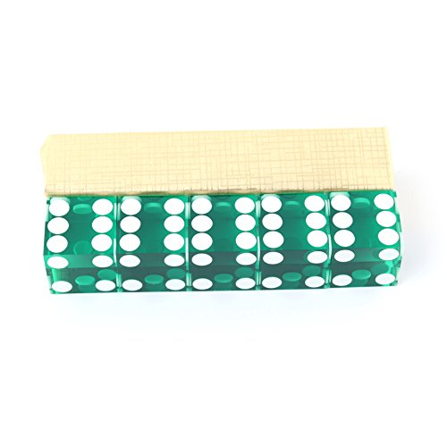 IDS Home Green Casino Craps Dice 19mm Grade Set of 5 Razor Edge Stick