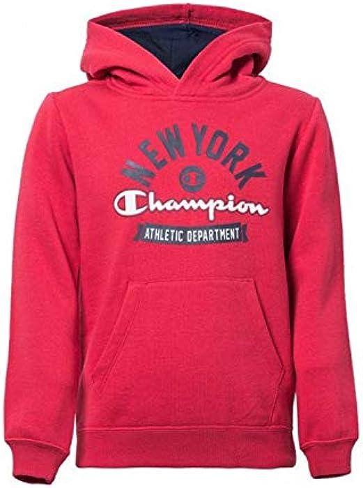 4afd042695d53f Champion - Felpa con cappuccio - ragazzo rosso rosso: Amazon.it:  Abbigliamento