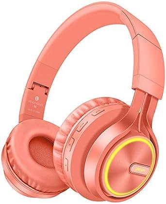RONSHIN Headphones//Earphones//Earbuds B6 Wireless Headphones Bluetooth 4.1Headphone Stereo Glowing Headset Earphone with Mic Gray Gold