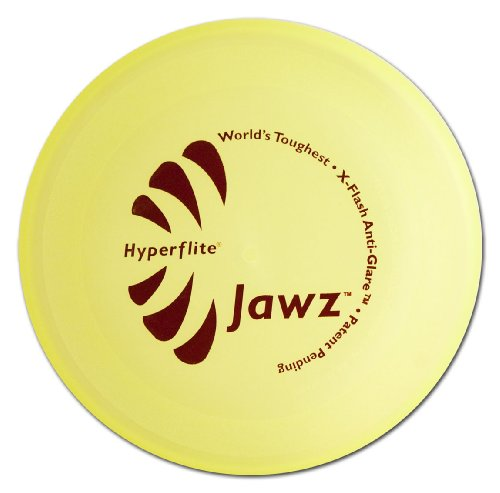 Hyperflite Jawz Lemon Lime Competition Dog Disc 8.75 Inch, Worlds Toughest, Best Flying, Puncture Resistant, Dog Frisbee, Not a Toy Competition Grade, Outdoor Flying Disc Training