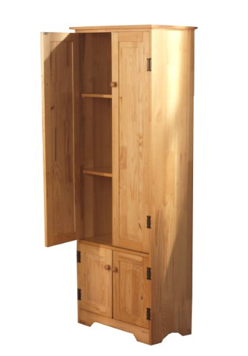 Amazon.com: TMS Extra Tall Pine Cabinet, White: Kitchen & Dining