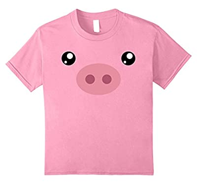 Pig Face T-Shirt, Funny Cute Animal Halloween Costume