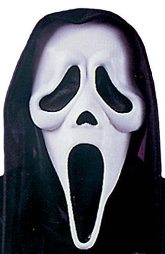 Ladies Mens Ghostface Official Scream Halloween Face Mask Fancy Dress Costume Accessory -