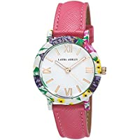 Laura Ashley Ladies Band Floral Bezel Watch (Muliti Colour)