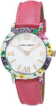 Laura Ashley Ladies Band Floral Bezel Watch