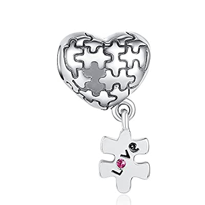 Glamulet Art - Love Puzzle Pendant Charm -- 925 Sterling Silver from Glamulet