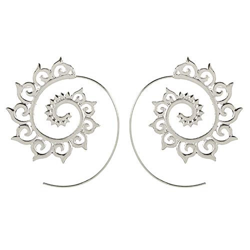 Bracet Spiral Hoop Earrings Stud Bohemian Vintage Tribal Swirl Style Adjustable Earrings Jewelry ()