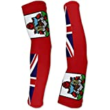 Bermuda Flag Compression Arm Sleeves UV Protection Unisex - Walking - Cycling - Running - Golf - Baseball - Basketball