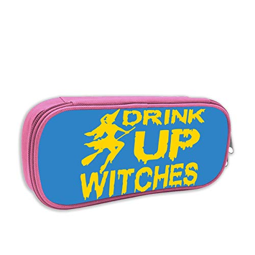 Drink Up Witches Large-Capacity Fun Pencil Case Student Stationery Bag Pink -