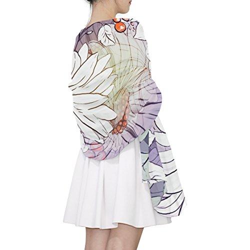 Sciarpa Fiori Pattern Light Multicolor Floreali Donna Alaza pqwS5C