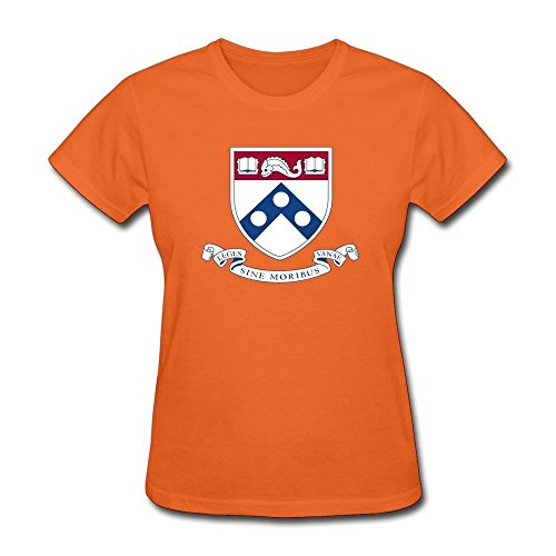 EnHui Custome Girlfriend University Of Pennsylvania Pre-cotton T-shirts X-Large Orange (Robin Custome)