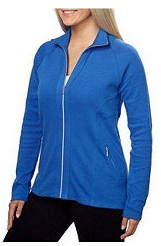 Kirkland Ladies Full Zip Cadet Collar Stretch Jacket (Large, Blue)