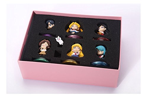 Anime Petit Chara Sailor Moon School Life Boxed PVC Action Figures Collection Model Toys 6pcs/set SAFG027