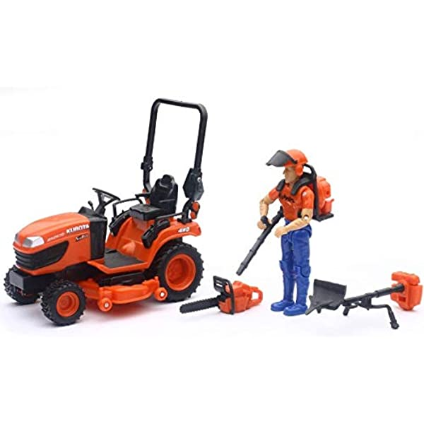 Amazon Com 1 18 Kubota Bx2670 Lawn Tractor With Figure Accessories By New Ray Ss 33453 Industrial Scientific