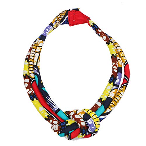 African Fabric Statement Necklace EWA Neck Piece, 3 for sale  Delivered anywhere in USA