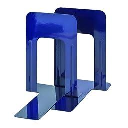 STEELMASTER Deluxe Steel 9 Inch Bookends, 1 Pair, Cobalt Blue (241009108)