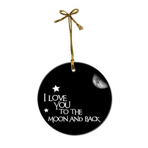 I Love You to the Moon and Back Custom Fashion Porcelain Gift Christmas decorations hanging Ornaments