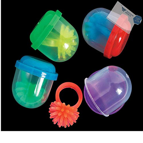 (Bargain World Bulk Vending Machine Capsules Glow-in-the-Dark Spiky Rings - 1.1 (With Sticky Notes))