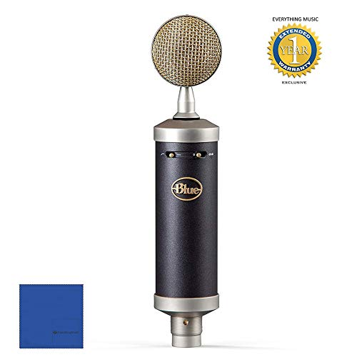 Blue Microphones Baby Bottle SL Large-Diaphragm Condenser Microphone with 1 Year Free Extended Warranty and Microfiber