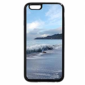 iPhone 6S / iPhone 6 Case (Black) Winter Waves Crash on French Beach, Vancouver Iskand