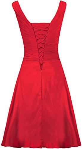 Chiffon Da Da Donne Delle Formiche Rosso Promenade Serbatoi Vestito Breve Damigella Abiti Cinghie RpXSv