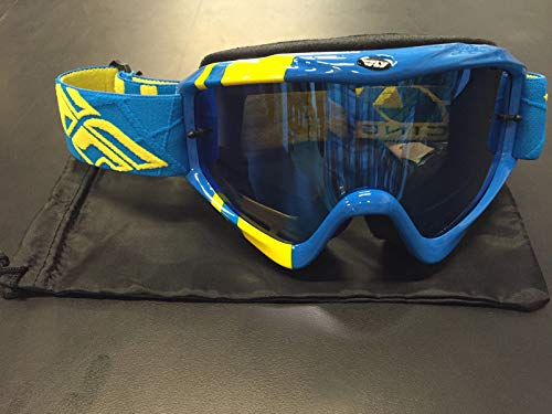 Fly Racing Zone Goggle (Hi-Vis/Blue Chrome/Smoke, One Size