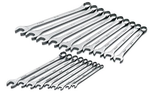 S K Hand Tools 86037 19 Piece SuperKrome Metric Long Pattern