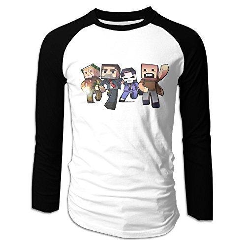 Price comparison product image Creamfly Mens Mine Family Craft Long Sleeve Raglan Baseball Tshirt M