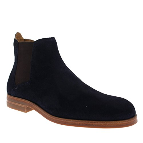 H By Hudson Mens Tonti Mocka Chelseaboots Navy