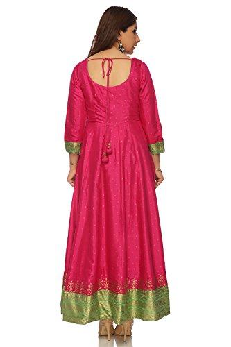 BIBA Pink Anarkali Viscose Kurta34 by Biba (Image #3)