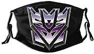 Lukaz Transformers Decepticons Unisex Outdoor Sport Mouth Face Washable Reusable for Adult Kids Black