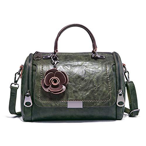 a Borsa tracolla fiore borse forma tracolla a con Borse di Verde Totes Fashion Marrone a Jerkky Borsa donna r8c6wqxgXr