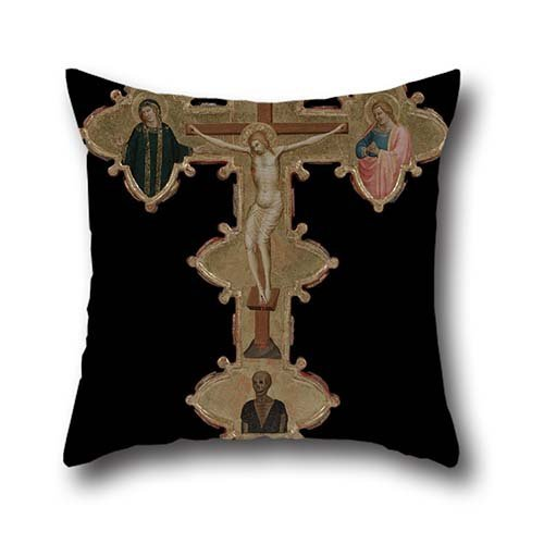 Cushion Cases 20 X 20 Inches / 50 By 50 Cm(both Sides) Nice Choice For Dining Room,car Seat,home,wife,bedroom,indoor Oil Painting Bernardo Daddi - Portable, Double Sided Cross (recto)