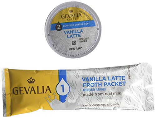 Gevalia, 2-Step K-Cup & Froth Packets, 6 Count, 1.41oz  Box (Pack of 3) (Vanilla Latte)