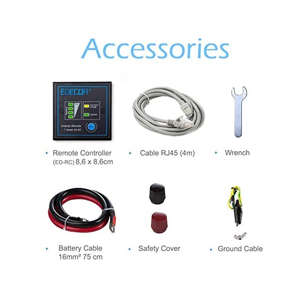 41P1HMbLZcL EDECOA Spannungswandler 2000W Modifizierte Sinus Wechselrichter 12V 230V 2x USB und Fernbedienung wechselrichter…