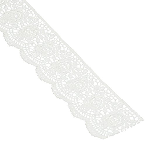 Wright Products Scalloped Rose Venice Lace 1-3/4