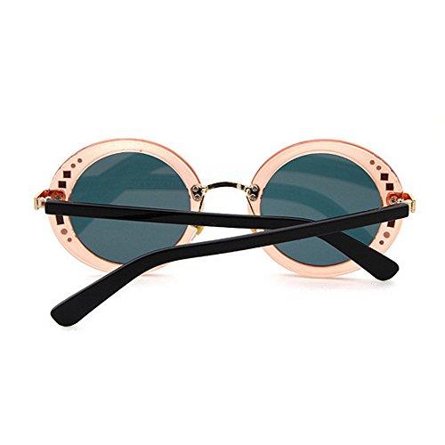 Conducir Playa C3 Sol Marco Decoración Protección de C5 Vacaciones de Completo Peggy para Gafas Verano Gu Redondo Remaches Color UV de Mujer de ZqATz