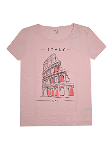 GAP Women's Lightweight Crewneck City Tee (XL, Italy (Gap Pink Shirt)