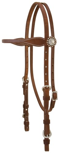 (Weaver Leather Stacy Westfall ProTack Oiled Browband Headstall)