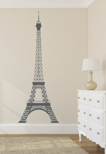 Eiffel Tower Decal Stickers 22Wx60H