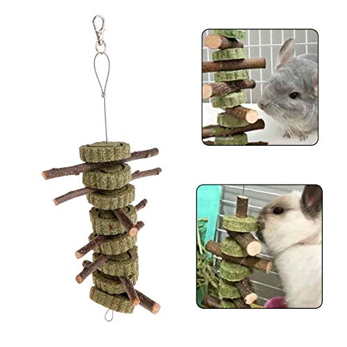 Toys - Pet Toy Apple Tree Branch Teeth Grinding Grass Natural Hamster Rabbit Chinchilla Small Animal - Chew Wood Ball Board Carrot Adult Craft Pack Shots Chinchilla Gift Game Stuffed -