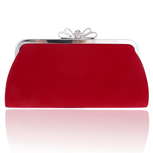 Evening Top Bags Bow Damara Red Velvet Womens Elegant qgaUC